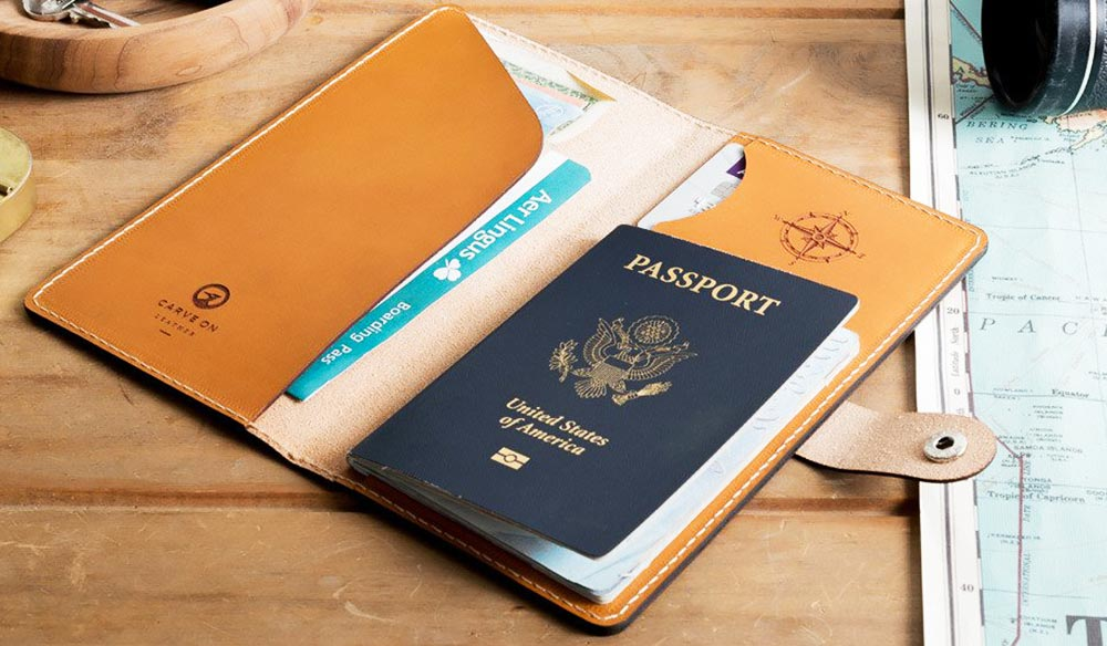 Gifts for men: Carve On Personalized Travel Wallet