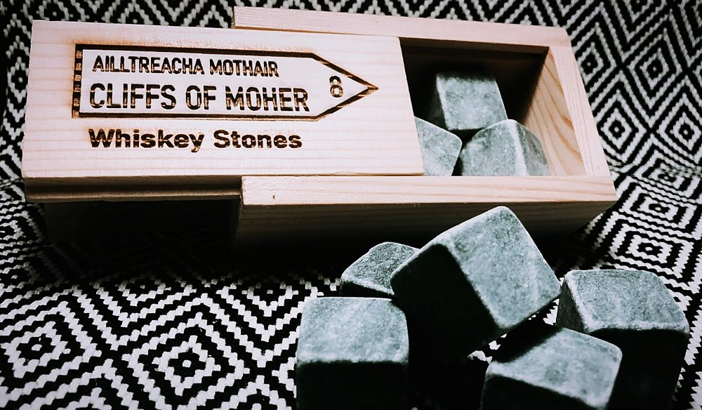 The Irish Whiskey Stone Company Cliffs of Moher Whiskey Stones